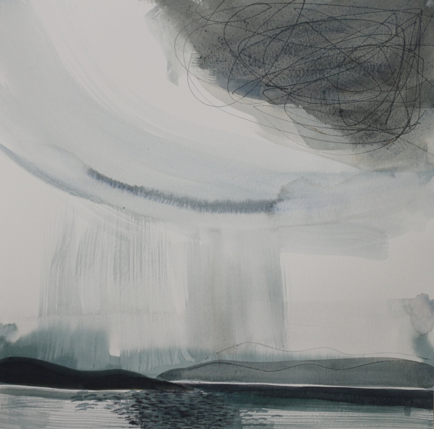 HORIZON RAIN AND HIGH CLOUDS