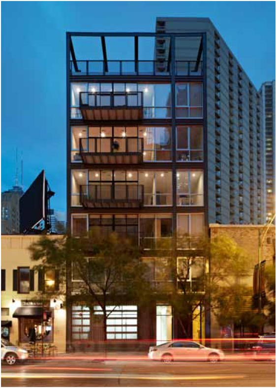 747 N CLARK | RIVER NORTH  Featured in Builder Magazine, 2014