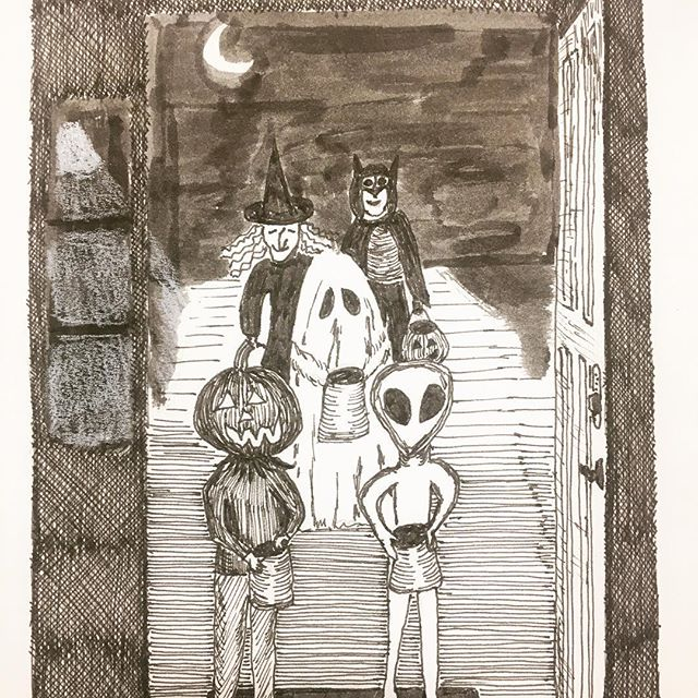 Trick or treat! #inktober2017 #inktober #sakurainktober #sketchbookskool