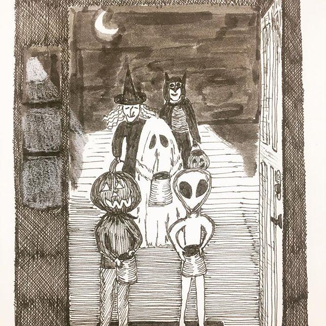 Trick or treat! #inktober2017 #inktober #sakurainktober #sketchbookskool