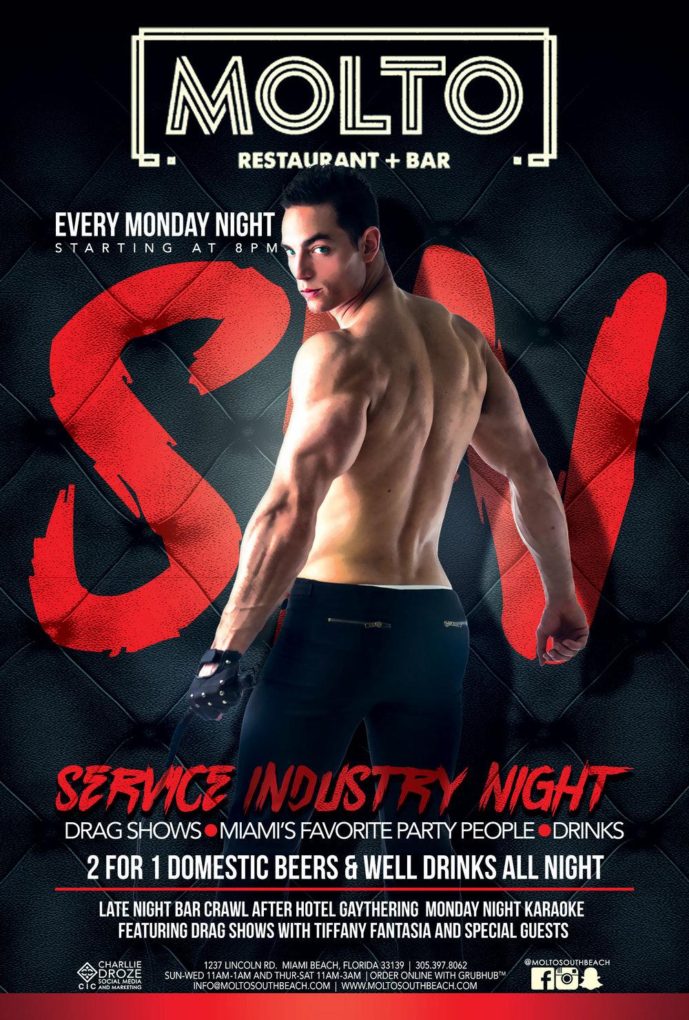 SERVICE INDUSTRY NIGHT - MONDAYS