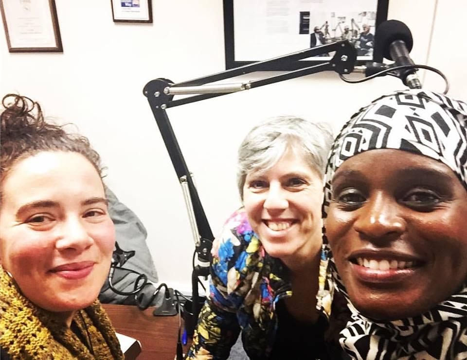 Studio selfie with Katalina Reigelman &Mubarakah Ibrahim