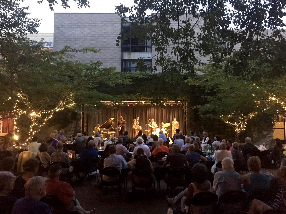 All-star band The Black Art Jazz Collective, August 2017 show in the Twilight Tuesday series at The Neighborhood Music School in New Haven, CT