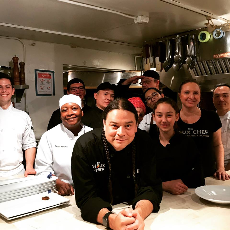 Sean Sherman and his team for their James Beard Foundation dinner in NYC, October 2017.