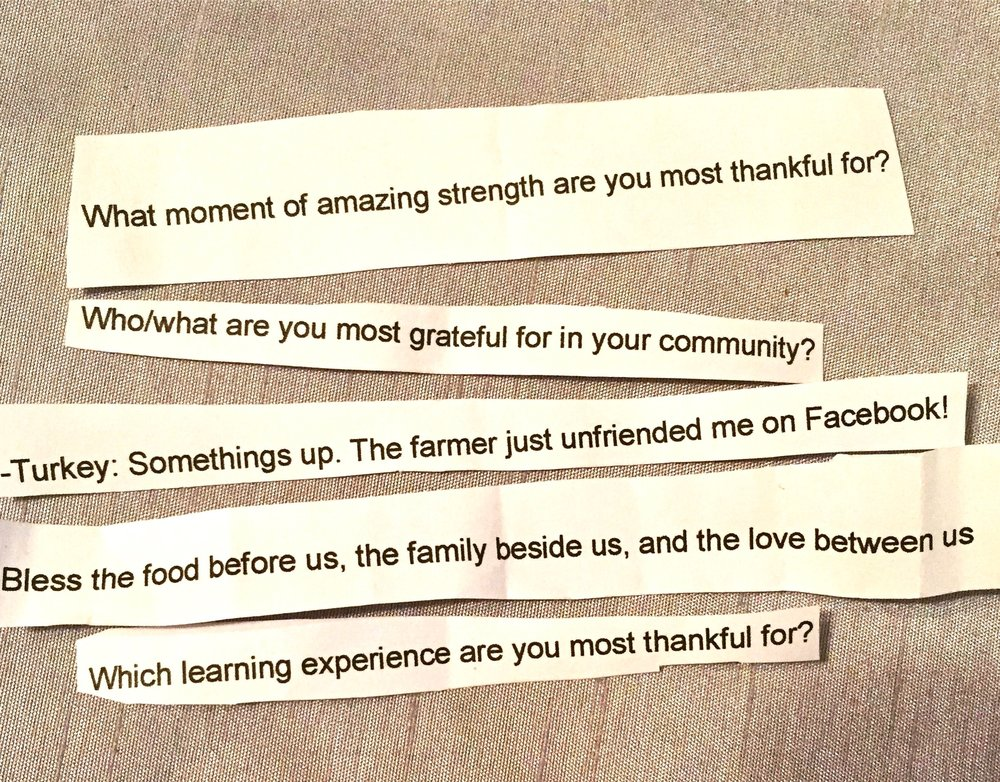 Thankfulness table notes can help make gratitude at the table a little easier and more meaningful.