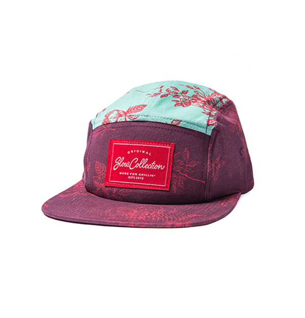 Casquette-slowcollection-rouge-turquoise-mode-