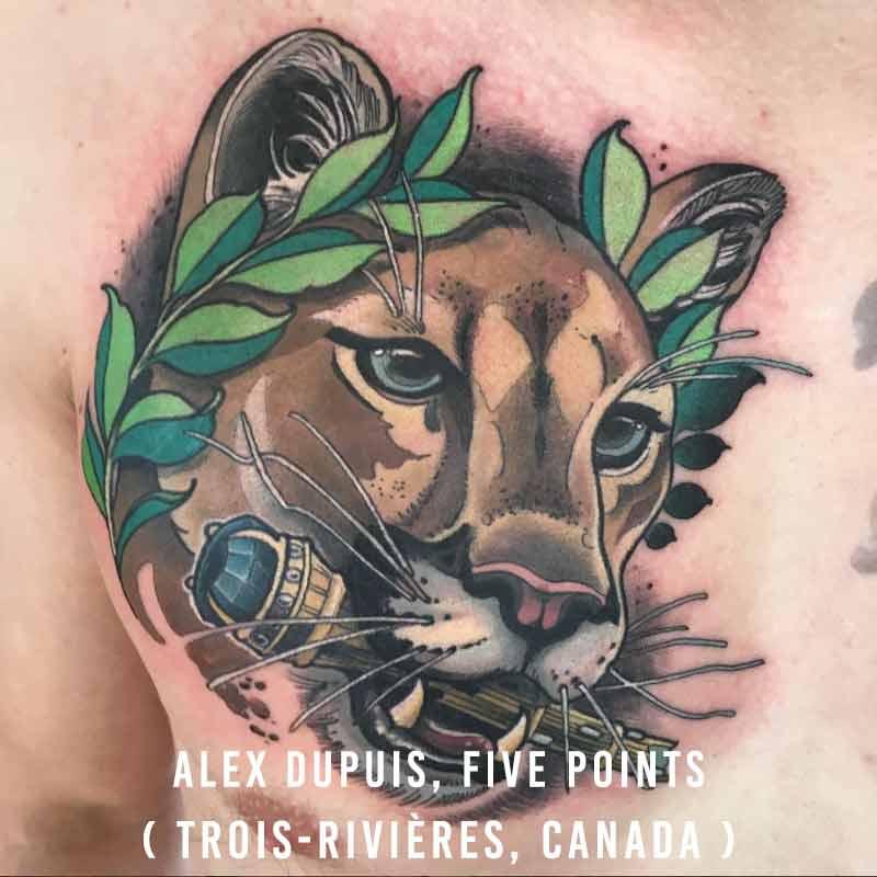 Alex Dupuis, Tatouage Five Points