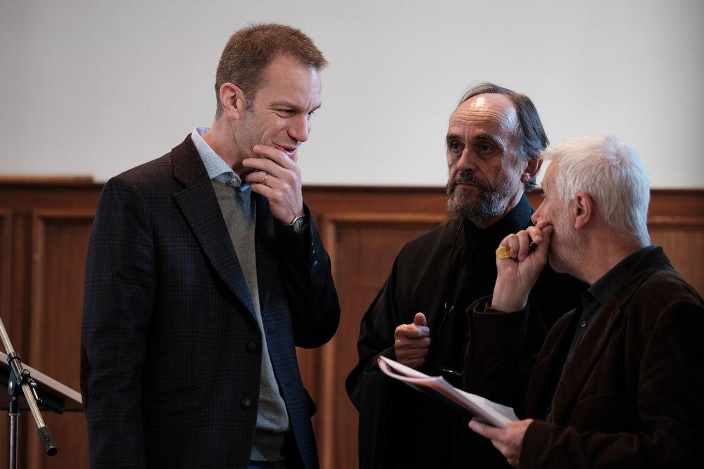 "Colloquium: ""Leerhuis van de Kerkvaders"" Bisdom Gent en Orthodoxe Kerk H. Apostel Andreas  Dieter Van Belle, Aartspriester Dominique Verbeke en Joris Van Ael."