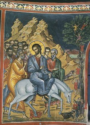 Fresco H. Dionysiou Klooster- H. Athosberg