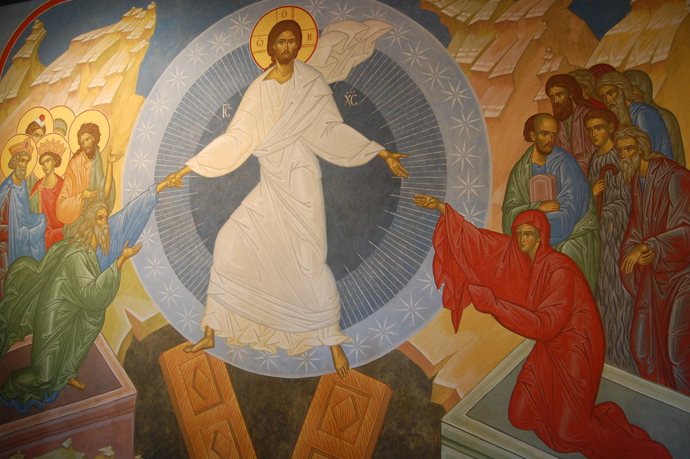 "Fresco "" De Nederdaling ter hel"" Yaroslav Dobrynine- H. Andreas Kerk te Gent"