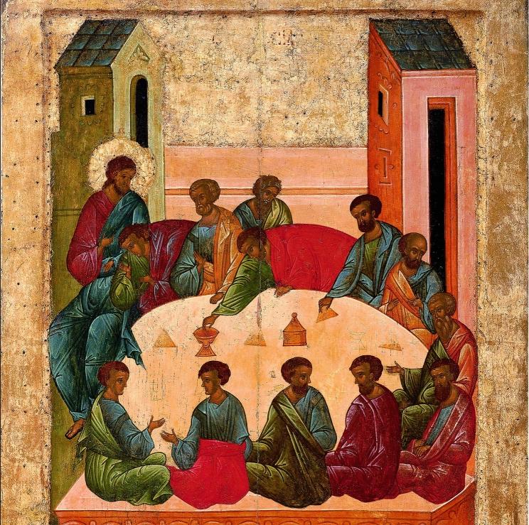 """XVde E. -c. 1497. Origineel: Kathedraal """"Ontslapen MG"""" Klooster van de H. Cyrill Belozersky  Russisch Museum, Sint-Petersburg, 2011"""