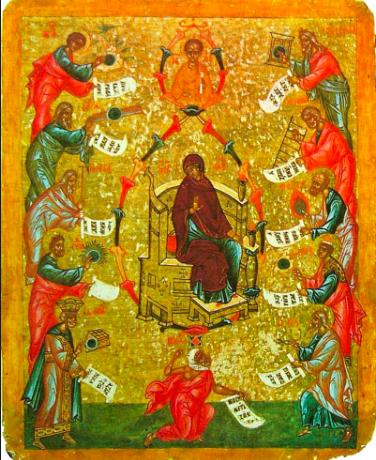 """""""We prijzen de Moeder Gods"""" - Novgorod 16e E."""