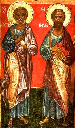 Icoon HH. Petrus en Paulus            Noord-Rusland