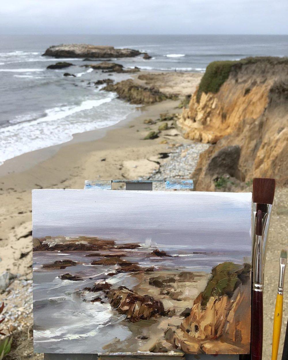 Pescadero Cliffs (Plein Air)