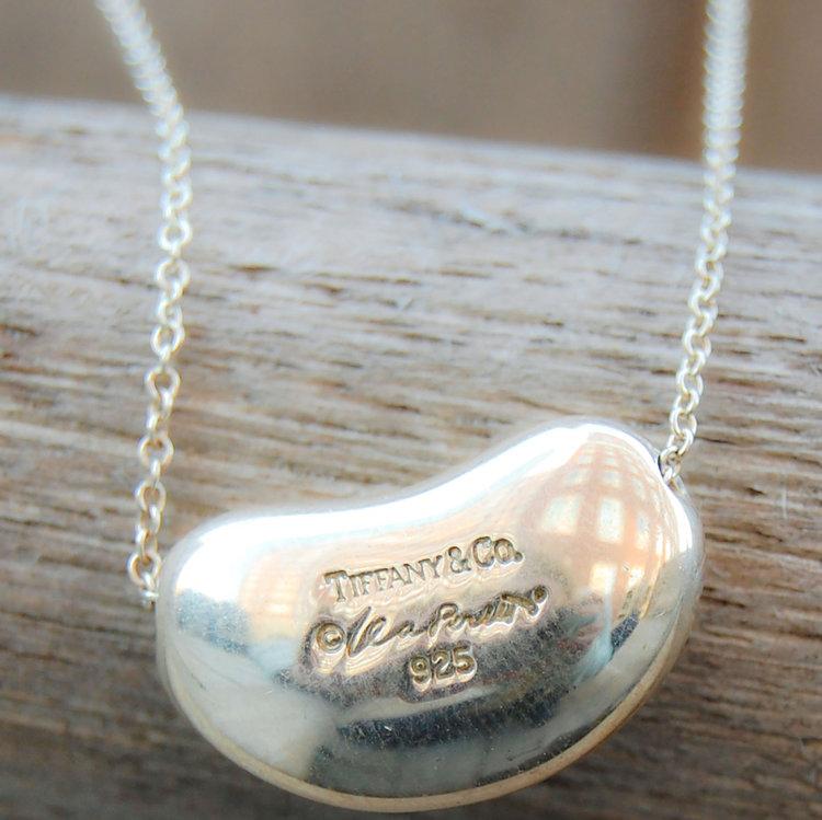 6c991d3eb Vintage Tiffany Elsa Peretti Bean Pendant Necklace. Vintage Jewelry ...