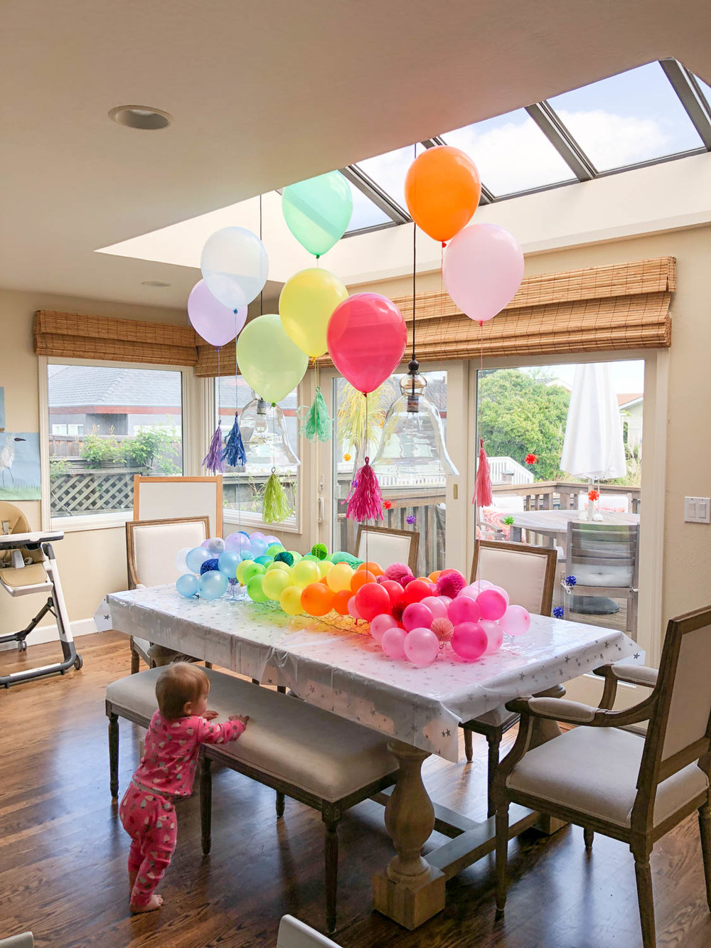 baby's first birthday aura birthday party diy centerpiece ombre pinterest