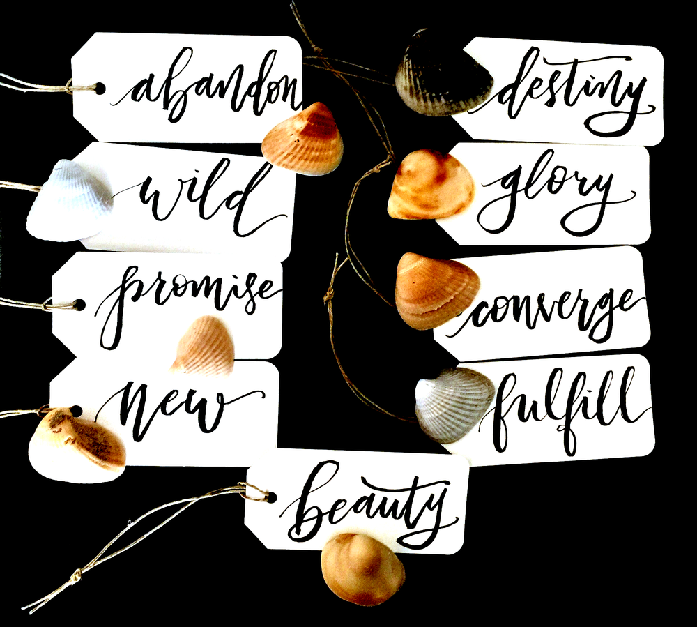 My sessions are a fun and empowering way to learn something new or update basic brush lettering skills. The goal of our time together is to discover our authentic mark, and to give ourselves space to become aware of things like comparison and perfectionism that halt the creative process. Sessions can be done one on one or as a group. I also tailor sessions for girls night, family night,corporate team building, and other occasions. -