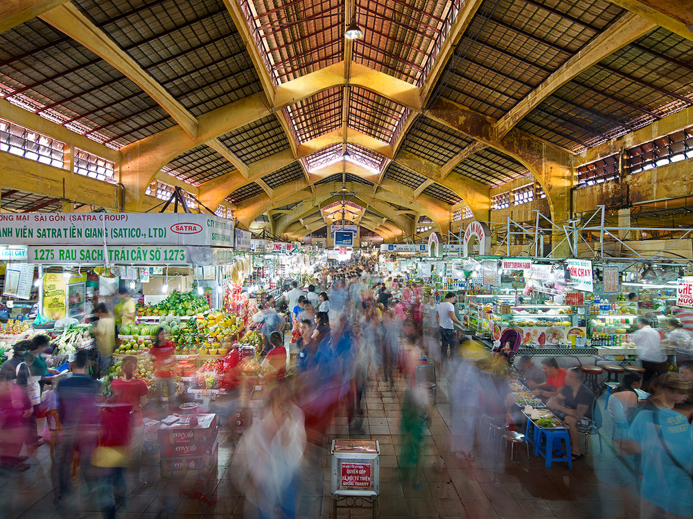 Ben Thanh Market, North Entrance, Saigon, Vietnam
