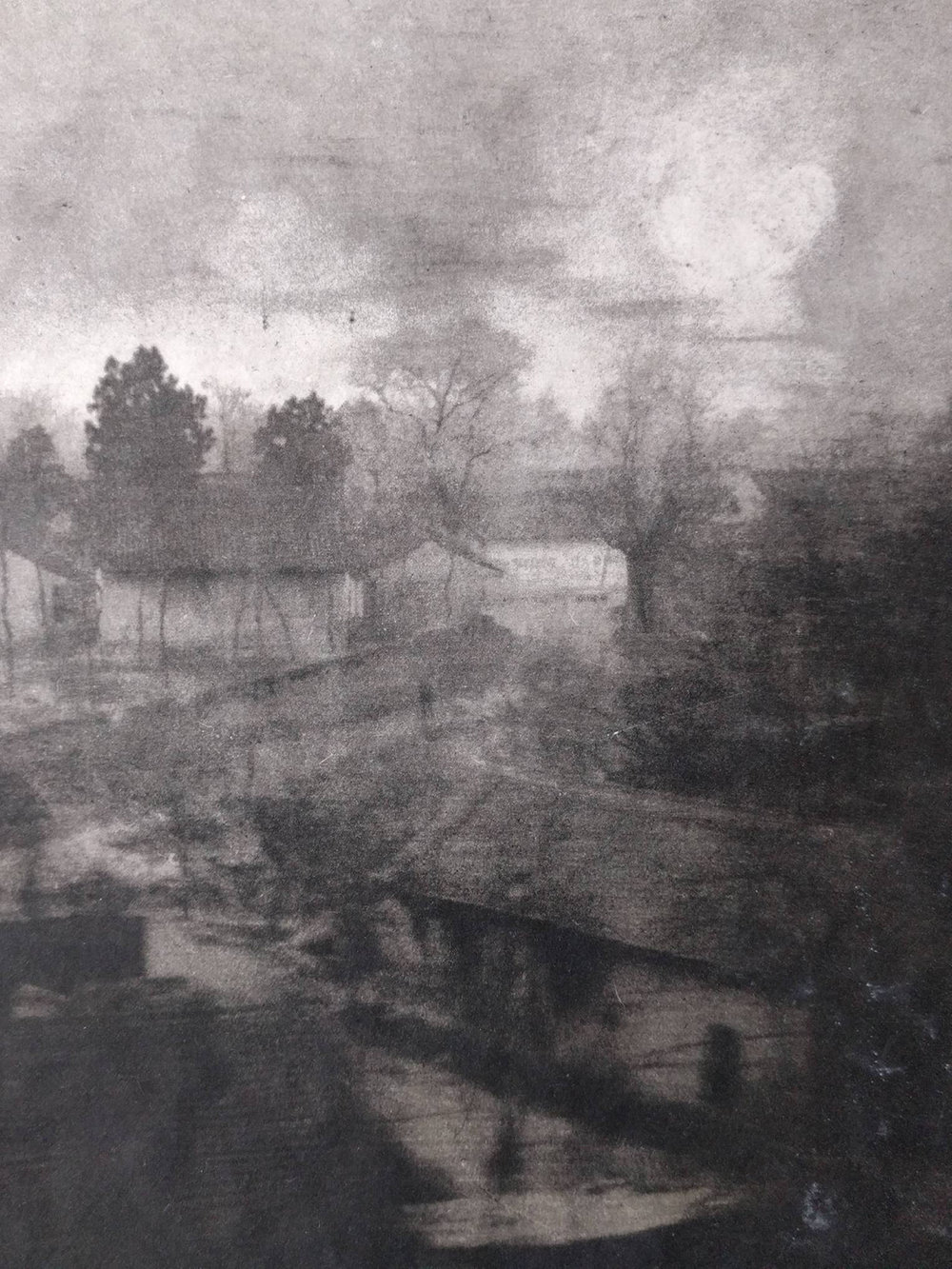 Peter Bogardus, photogravure print with pigment, from the series  Going to Gansu.