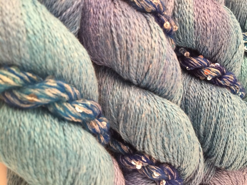 FB hotline bling blue yarn.JPG