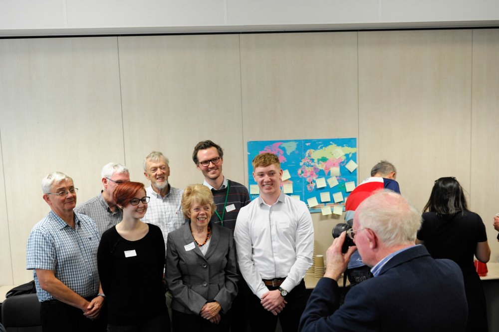 Our funders were also keen to take photos of our amazing young people