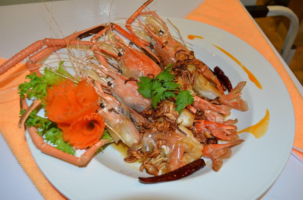 fresh water prawn whit tamarind sauce.JPG