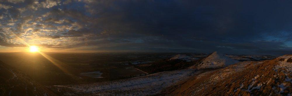 The Sun rises on the Borders