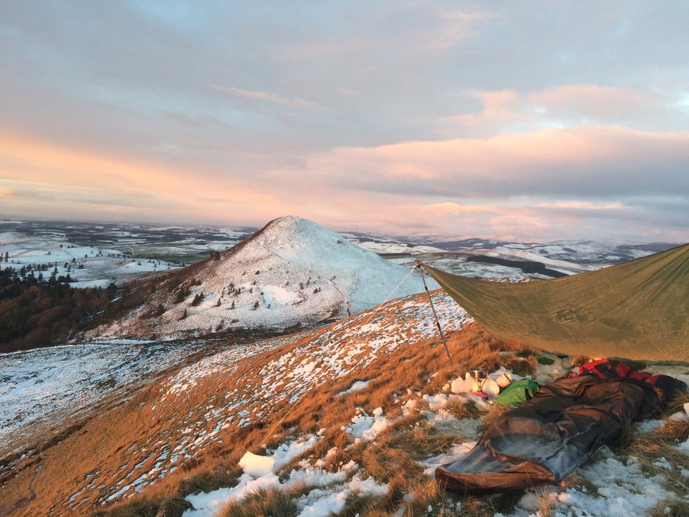 A frosty bivvy site.  If i can sleep here in winter you have no excuse for the summer!