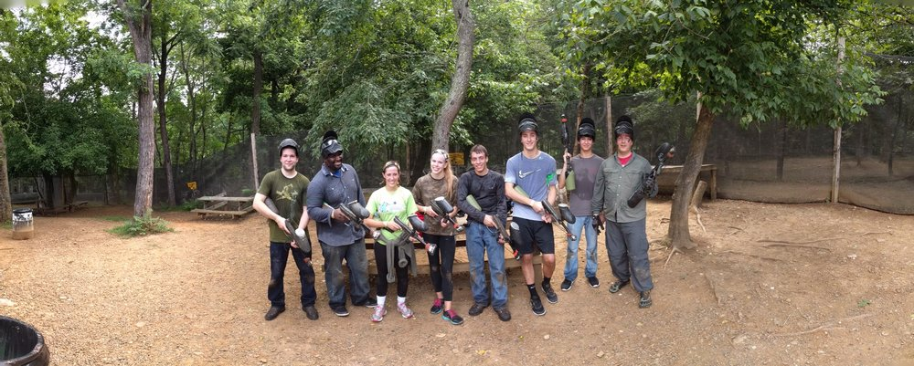 GCT Interns and Employees spend the day team-building by playing paintball.