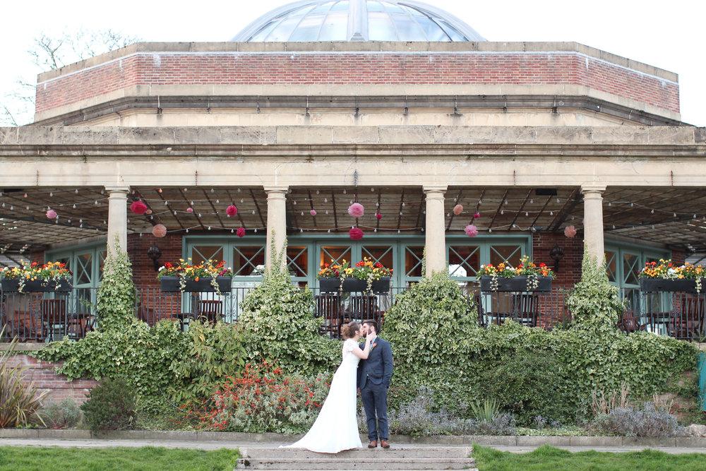 Outside the Sun Pavilion Harrogate