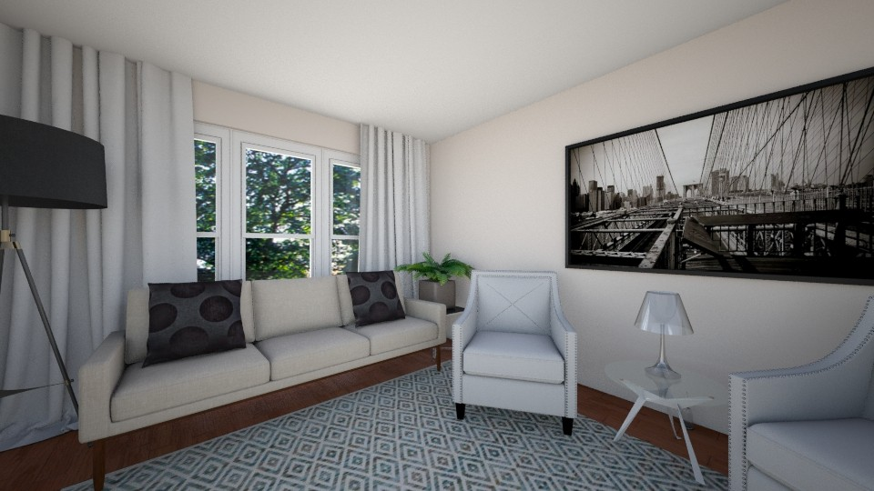 3D Rendering / Contemporary Family Room