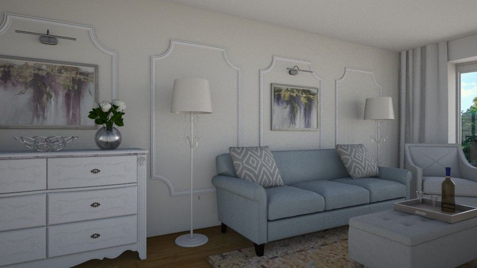 3D Rendering / Traditional Family Room