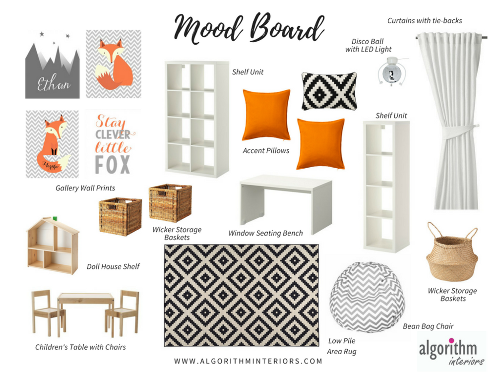Creative Playroom Moodboard