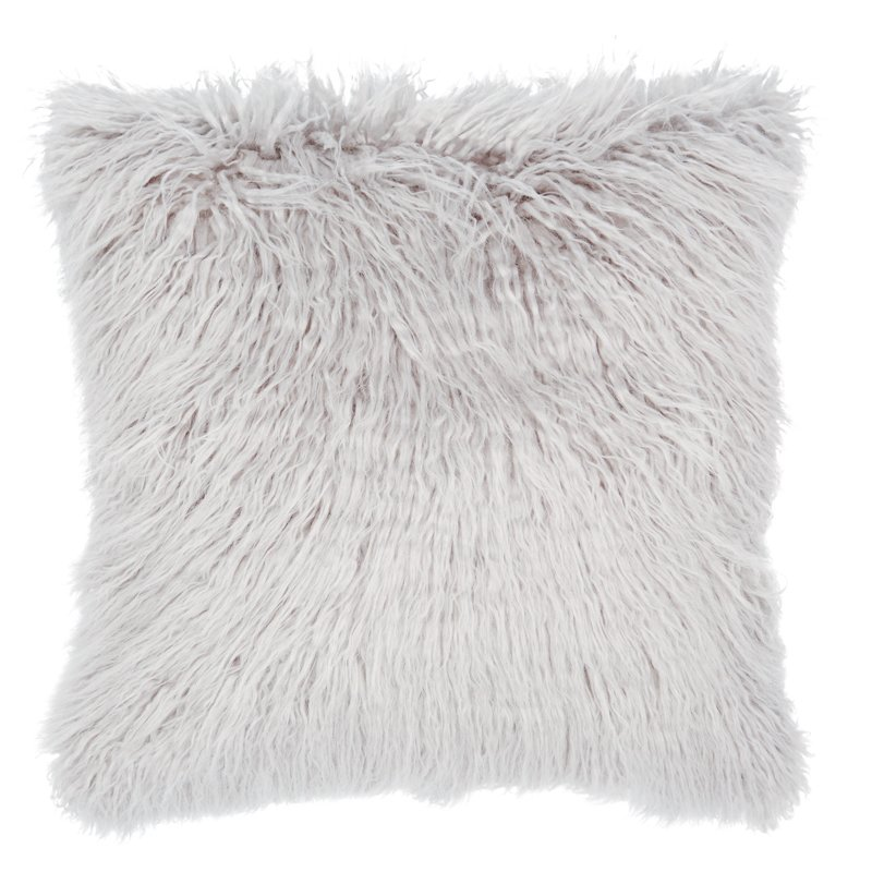 "MONGOLIAN FAUX FUR PILLOW COVER 18"" X 18"""
