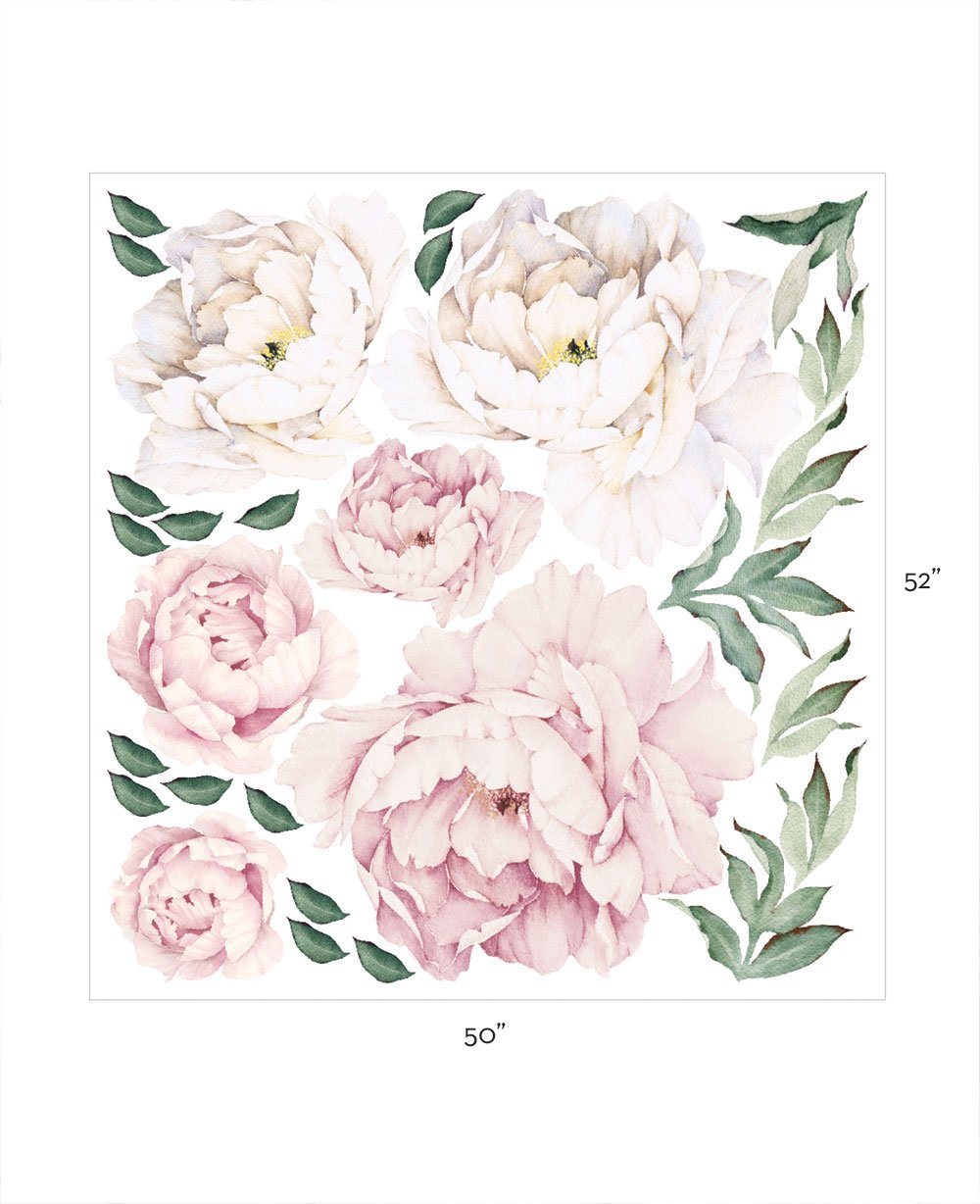 PEONY FLOWERS WALL STICKER