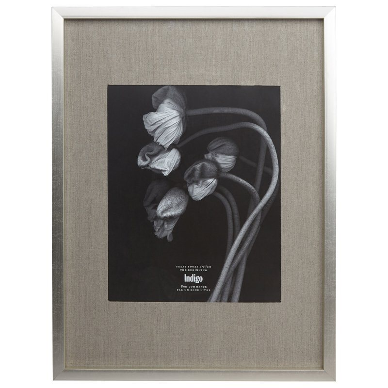"GALLERY FRAME SILVER FOIL | 11"" X 14"" OPENING"