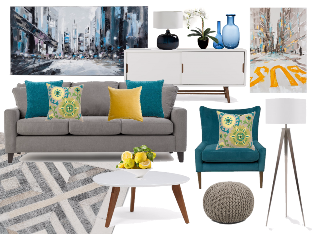 Virtual Interior Design Mood Board Example