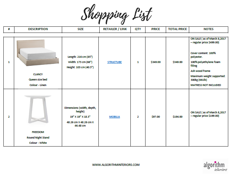 Shopping List - You can buy it!
