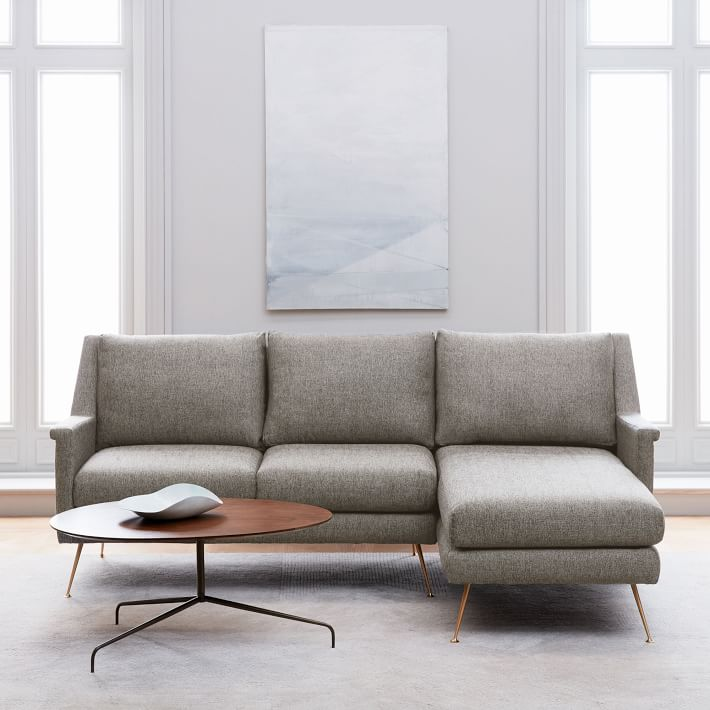 Image: West Elm / Carlo Mid-Century 2-Piece Chaise Sectional