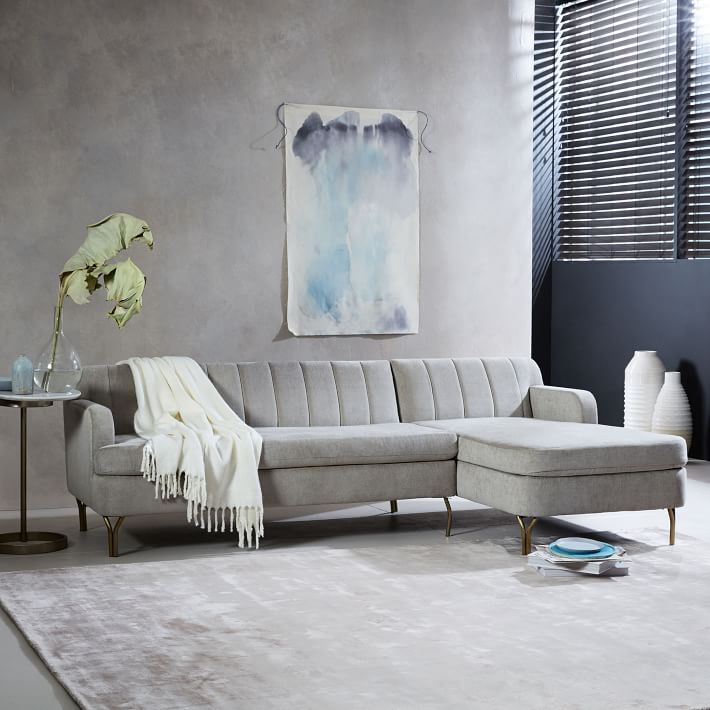 Image: West Elm / Valencia 2-Piece Chaise Sectional