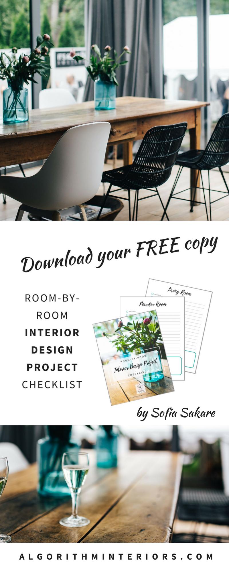 Interior Design Project Checklist