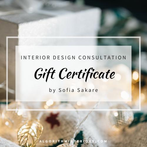 gift certificate interior design consultation - Certificate Of Interior Design