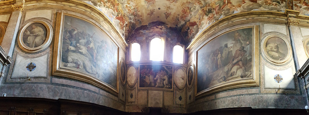 Frescoes inside the church