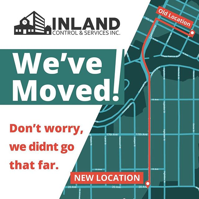 WE'VE MOVED! In the season of the upcoming new year, we've packed everything up and moved into our new location on the corner of 20th & Queensway (in the old Yamaha building, which we have COMPLETELY renovated - you can check out the progress on our blog 😉). We are still doing a few things around the building, and will be opening the doors for the public in the new year. How exciting! 😍🛎️👏⠀ .⠀ .⠀ .⠀ .⠀ .⠀ .⠀ .⠀ .⠀ #moving #moveuppg #pgbusiness #newlocation⠀ #hvac #buildingautomation #automation #automationsolution #hvac #hvactech #hvactechnician #electrical #refrigeration #lighting #secruity #automatic #graphics #enteliweb #deltacontrols #hvacservice #networking #IT #inlandcontrolsandservices #inlandcontrols #inlandpg #princegeorgebusiness #princegeorgebc