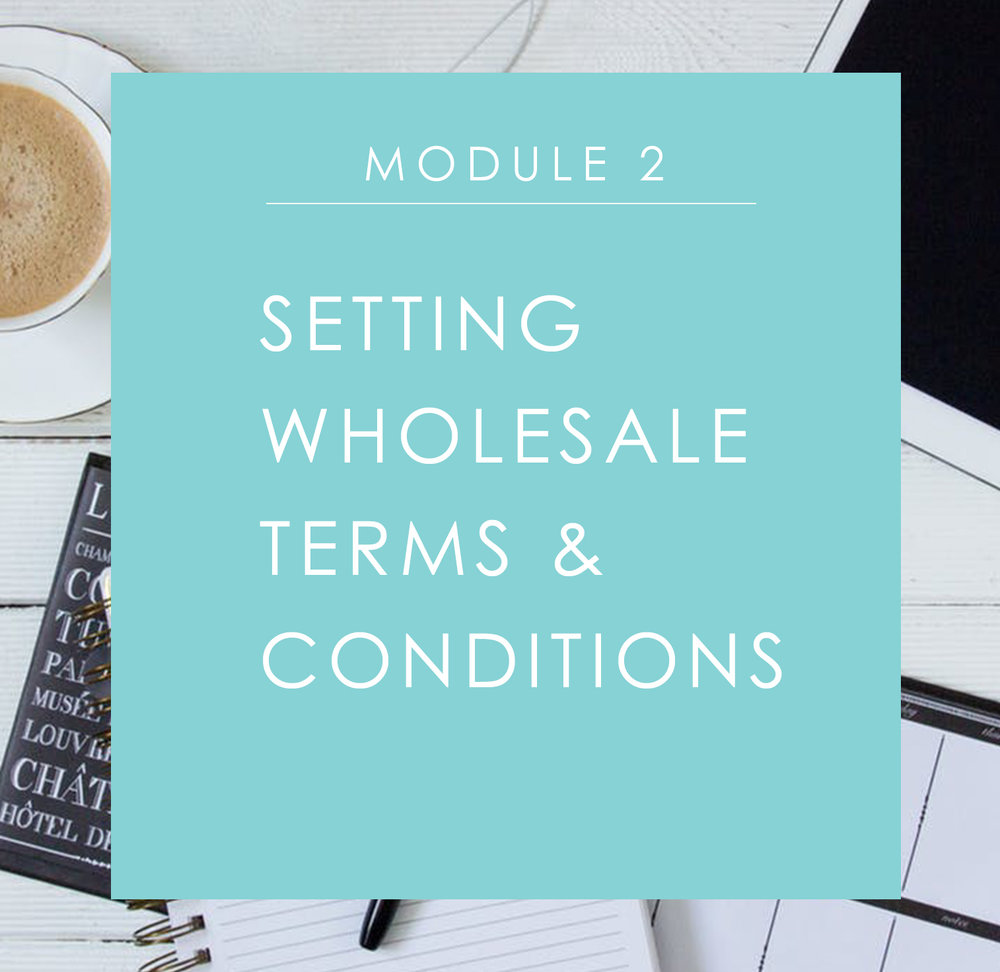 Module 2: Setting Wholesale Terms & Conditions