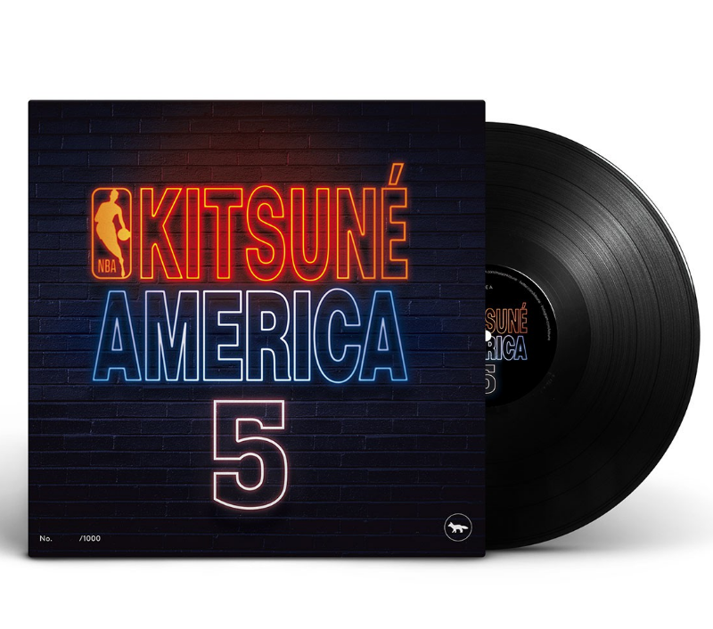 KITSUNE X NBA NORTH AMERICA 5 COMPILATION - limited edition vinyl