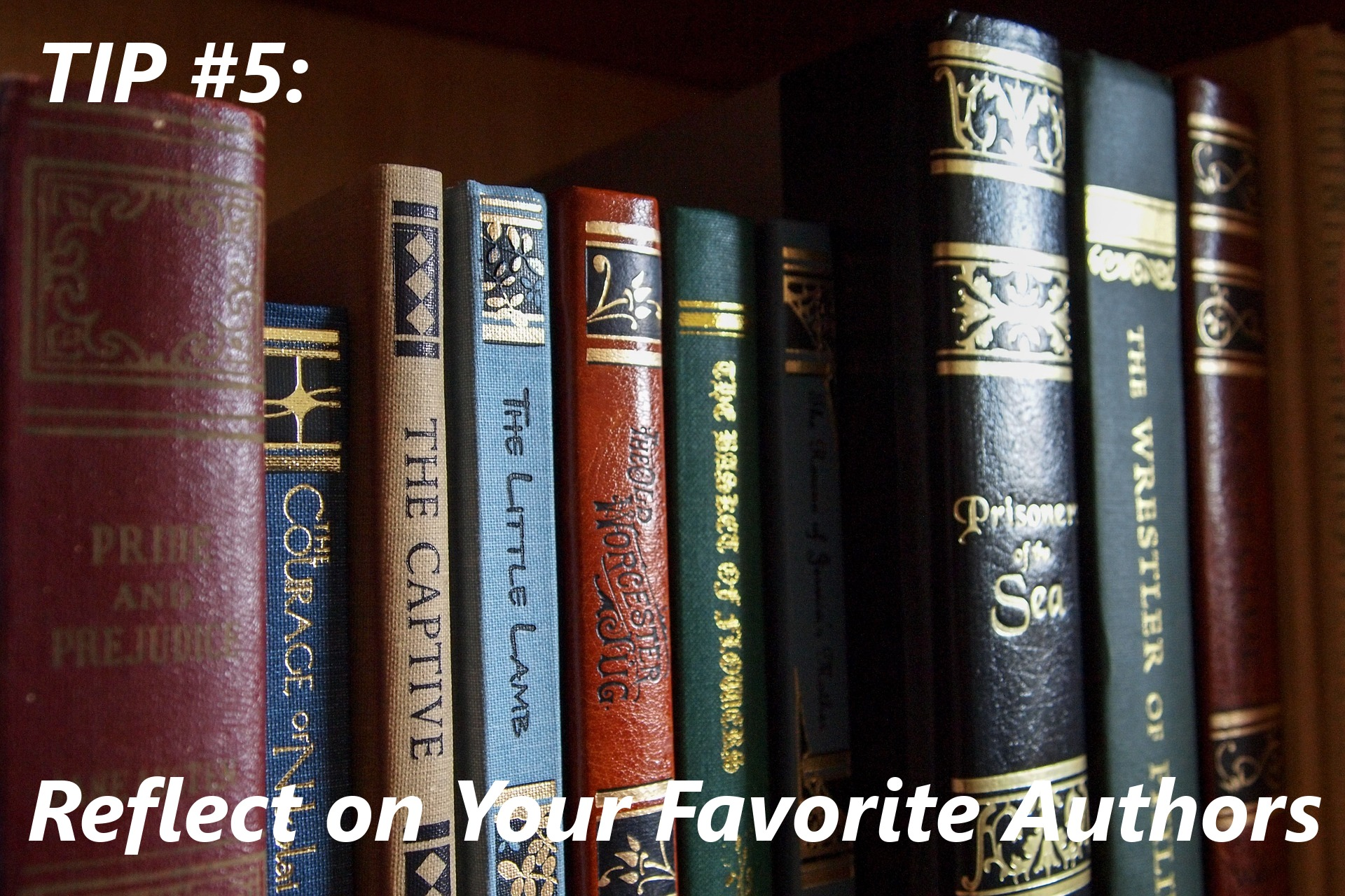 need some writing inspiration? reflect on your favorite authors.