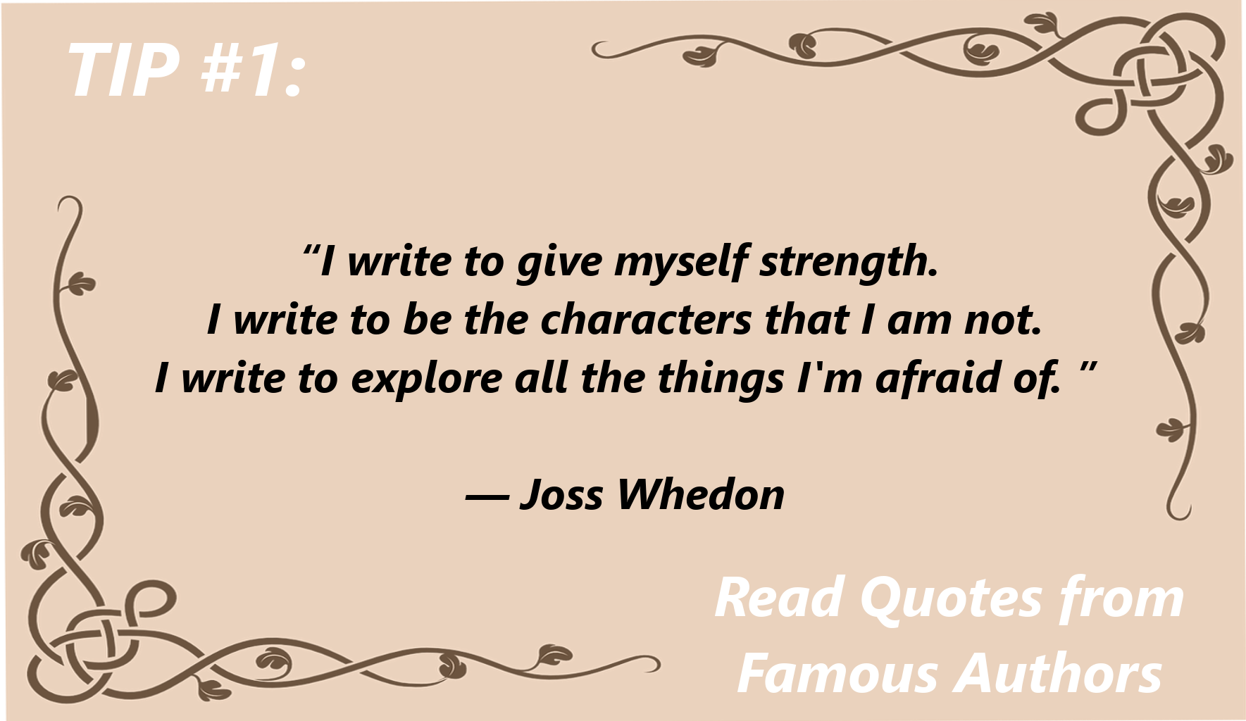 read quotes from famous authors for writing inspiration [Joss Whedon]
