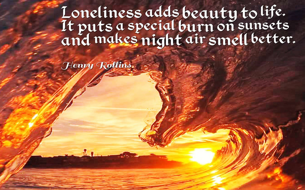 "I was pretty disappointed this didn't get much attention on Pinterest. Maybe the word ""Loneliness"" put people off. Made on Quotes Cover."