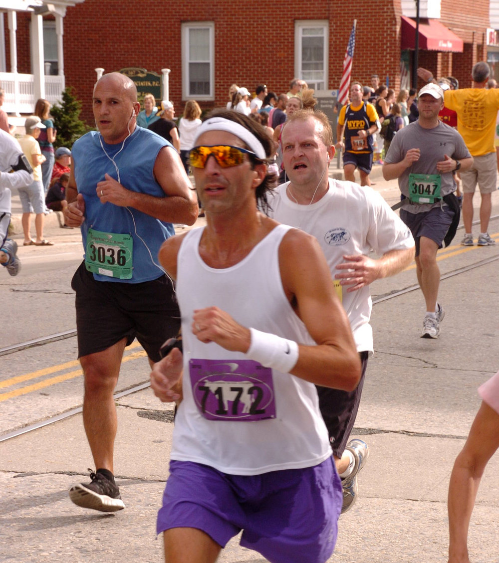 DREW G.  Running the Great Cow Harbor 10K